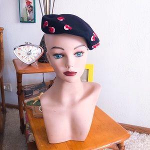 Vintage 1940s Hat Hollywood Pinup Rockabilly 40s